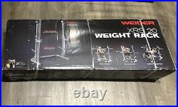 Weider XRS 20 Olympic Squat Rack/Bench Press Stand Safety Spotters and Bar Holds