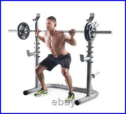 Weider XRS 20 Olympic Squat Rack with Adjustable Safety Spotters and Bar Holds
