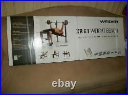 Weider XR 6.1 Multi-Position Weight Bench plus Bar and 100 lbs of weight plates