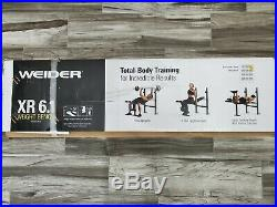Weider XR 6.1 Weight Bench With 2 Bars & 95 Lbs Of Weights Ships Same Day