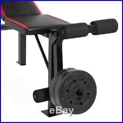 Weight Bench Bar Lift Set Weightlifting Exercise Workout Press Weights 100 lb