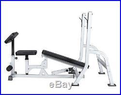 Weight Bench Set Multifunctional Bench Press Bar Rack Adjustable Workout Bench