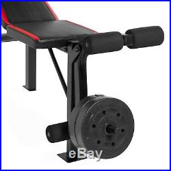 Weight Bench Set with 100 lb of Weights, Bar, Collars FREE SHIPPING ROM USA