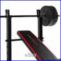 Weight Bench W Weights Set 140Lb Bar Press Barbell Dumbbell Set Home Gym Workout