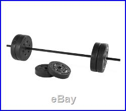 Weight Bench Weights Set 80Lbs Bar Press Adjustable Home Gym Workout Fitness