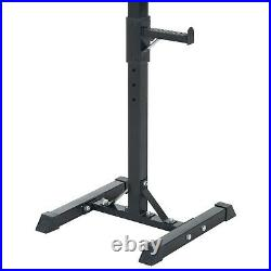 Weights Bar Barbell Squat Stand Stands Spotter GYM Fitness Power
