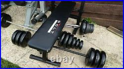 Weights bench with squat rack power rack for Dumbbells or barbell bar gym